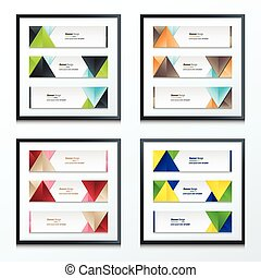 Set Bright modern abstract banner design 4 in 1
