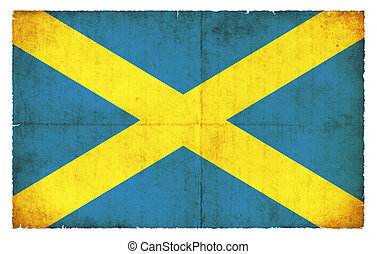 Grunge flag of Saint Albans Great Britain - Flag of the...