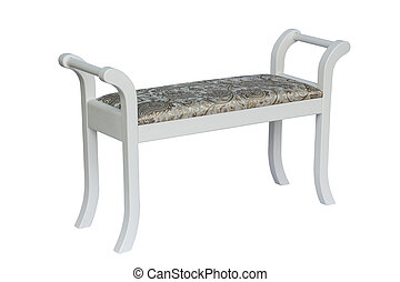 Upholstered Hall Banquette. - Hall soft Furniture Isolated...