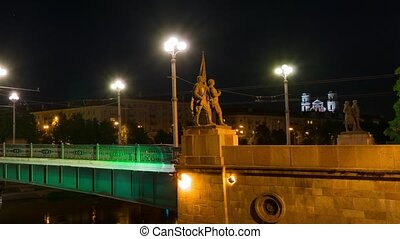quot;Green Bridgequot; with Soviet statues, - Vilnius,...
