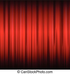 Background with red curtain