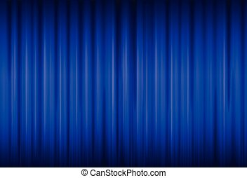 Background with blue curtain