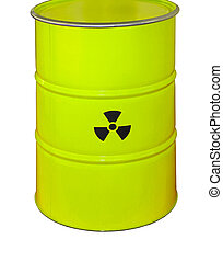 Radioactive Waste - Green Barrel For Radioactive Waste...