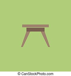 Small table icon, sign and button - Small table Colorful...