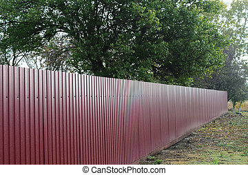 The metal profile - Diagonal pattern of metal profile....