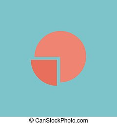 Pie chart flat icon - Pie chart Colorful vector icon Simple...