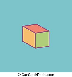Cubes flat icon