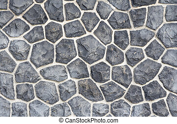 Gray mosaic stone wall background - Nice stones with a very...