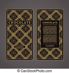 Vector Chocolate Template