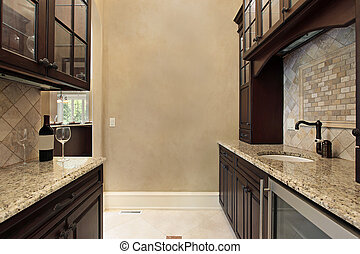 Pantry with refrigerator - Pantry in new construction home...