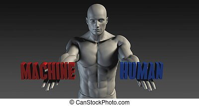 Human or Machine as a Versus Choice of Different Belief
