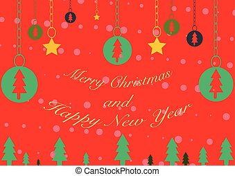 Merry Christmas and Happy New Year Background - Merry...
