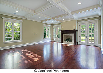 Family room with fireplace - Family room in new construction...