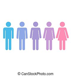 Gender transition concept - Transition process of...