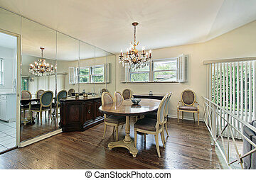 Step up dining room