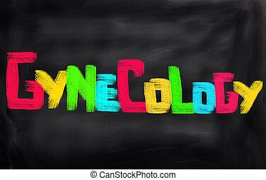 gynécologie, concept,