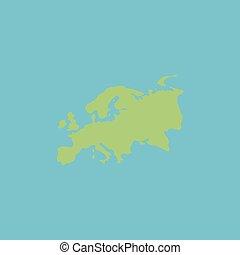 Eurasia map flat icon - Eurasia map Colorful vector icon...