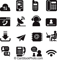 Communication Technology icons set 2