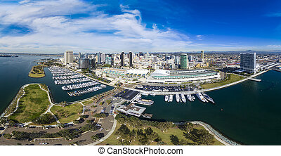 San Diego Panoramic - This is an 8 image aerial panoramic of...