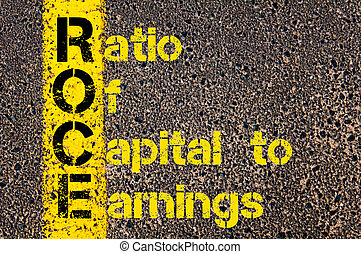 Accounting Business Acronym ROCE Ratio Of Capital to Earnings