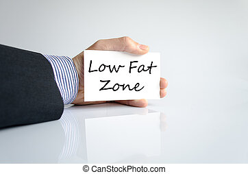 Low fat zone text concept isolated over white background