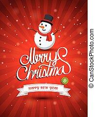 Merry Christmas - Christmas Greeting Card. Merry Christmas...