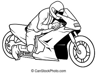 Motorcycle racing Illustrations and Clipart. 10,617 ...