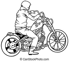 Motorcycle and Driver