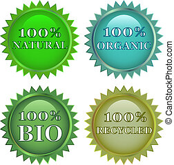eco friendly labels - green eco friendly labels
