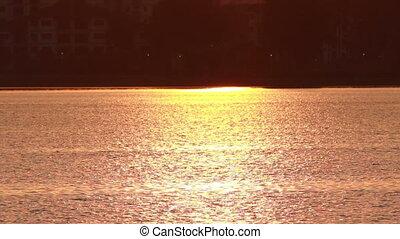Sunset on Lake Surface