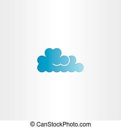 blue cloud vector icon logo element