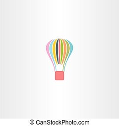colorful parachute logo vector icon sport