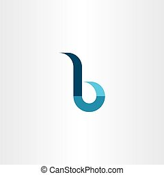 small letter b logo vector sign emblem