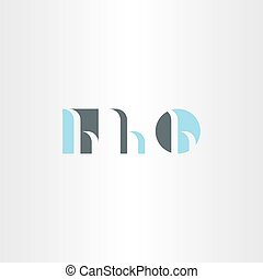 small letter h logo set vector icon element