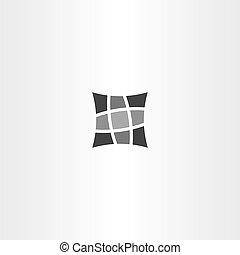 square pillow vector icon design symbol