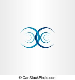 water wave interference collision vector icon symbol
