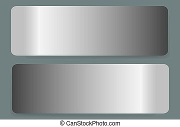 Two stainless steel labels vector - Two stainless steel...