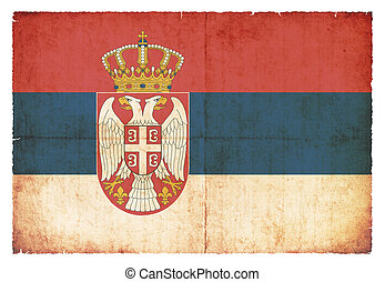 Grunge flag of Serbia - National Flag of Serbia created in...