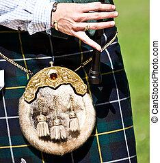 escocés, gaita,