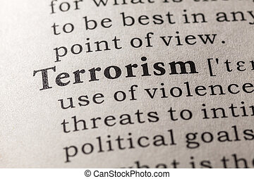 terrorism - Fake Dictionary, Dictionary definition of the...