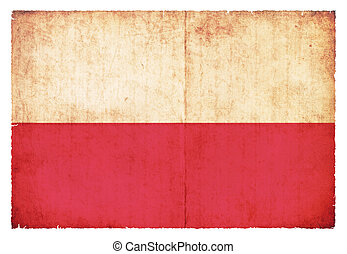Grunge flag of Poland - National Flag of Poland created in...