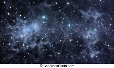 Universe background with stars - Universe with stars and...