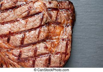 ribeye steak - ethically raised, fresh cut organic rib eye...