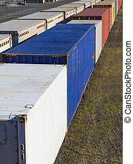 Freight Rail - A freight train loaded with containers...