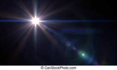 blue lens flare 4k - abstract image of lens flare...