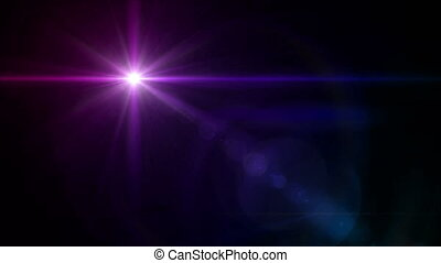 color Star cross color lens flare 4k - abstract image of...