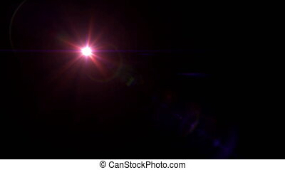 red lens flare 4k - abstract image of lens flare...