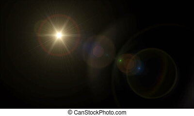 Sun cross lens flare 4k - abstract image of lens flare...