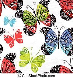 Spring grunge seamless pattern
