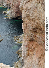 Cliff and shore of Newfoundland - Cliff on Port au Port...
